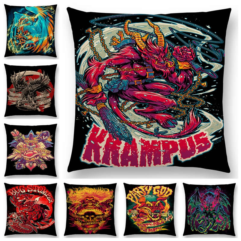 American Graffiti Sofa Pillow Case Comics Computer Game Film Devil Hunter Blood Magical Creation Beast Monster Cushion Cover