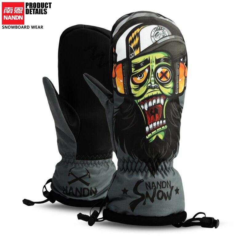 NANDN gants de ski Snowboard Gants Motoneige Moto Hiver ski Équitation Escalade Étanche Gants De Neige - 3
