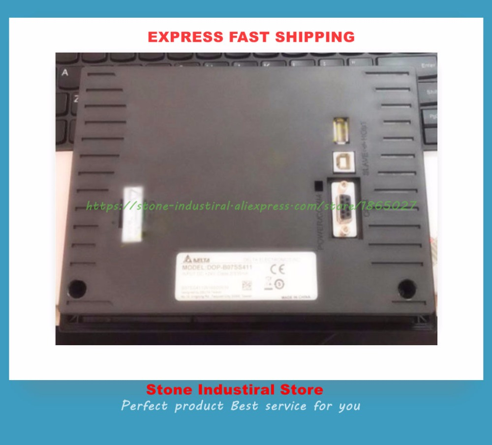 New 7 inch HMI DOP-B07SS411 can replace DOP-B07S410 or DOP-B07S411 touch panel screen dop b07s411 7 inch 800x480 hmi touch screen delta operator panel dop b07s411 with usb program download cable fast shipping