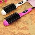 Alisador de cabelo Curler de Ondulação rápida Multifuncional 2 em 1 pente, Portátil Cerâmica ferro Alisamento escova de Cabelo Elétrico de curling