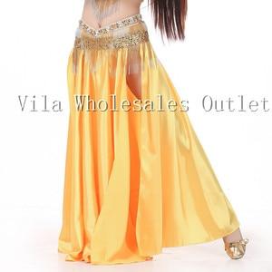 Image 3 - Belly dance skirt dancing skirt indian bellydance skirt 1pc skirt only 14 color 702#