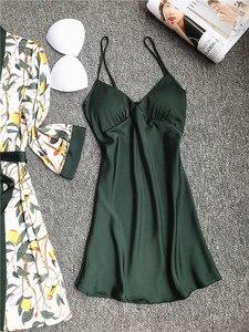 Image 3 - Daeyard piżama zestaw koszula nocna szata zestaw kobiety Nighty jedwabny szlafrok dla pań koszula nocna bielizna nocna Femme seksowna bielizna szlafrok