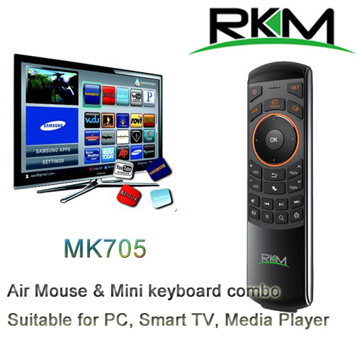 RKM MK705 2 4GHz 3 in 1 Wireless Air Mouse Keyboard IR Remote Rechargeable Battery for