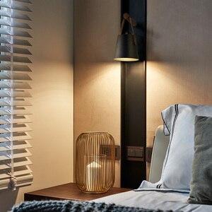 Image 2 - Aisilan Lámparas LED de pared para sala de estar, dormitorio, pared del pasillo, apliques de luz, Bombilla E27, luz de pared nórdica de madera