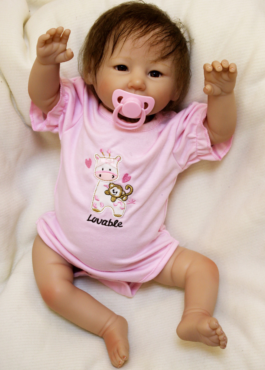kawaii new arrival 20inch silicone baby reborn dolls toys boneca  for babies toys doll Newborn Lifelike Toddler Brinquedos Kids-in Dolls from Toys & Hobbies    1