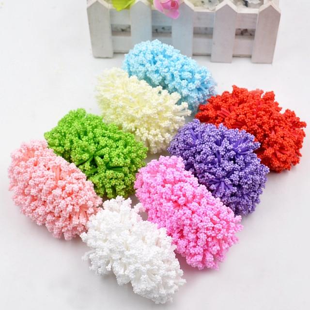 12 יח'\חבילה קצף גיפסנית פרחים מלאכותיים זר לחתונה עיצוב הבית מזויף פרח מתנת DIY Handcraft זר Scrapbook