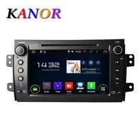 KANOR 1024*600 Quad Core Android 5.1.1 Fit SUZUKI SX4 2006- 2008 2009 2010 2011 2012 Car DVD Player Navigation GPS TV 4G Radio