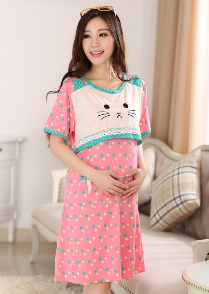 Aliexpress.com : Buy Cute Kitty Summer Cotton maternity ...