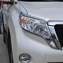 For Toyota Land Cruiser Prado FJ150 FJ 150 2014 2015 2016 ABS Chrome Front Head Light Lamp Cover Trim Headlight Headlamp Frame