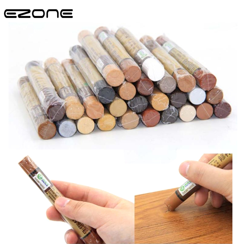 EZONE Crayon Urniture Paint Floor Repair Floor Wax Wood Composite Repair Materials Scratch Patch Paint Pen School Office Supply