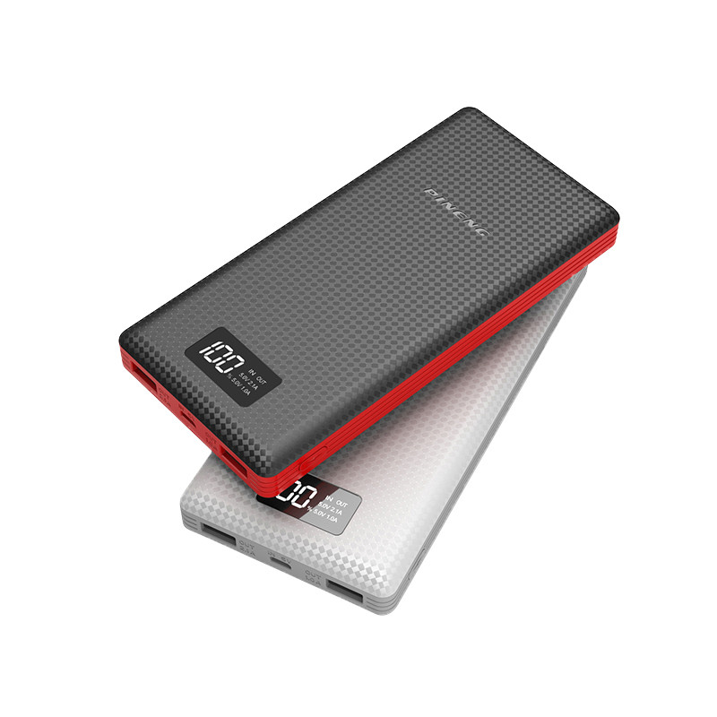Цена за Оригинал pineng 20000 мАч универсальный power bank портативное зарядное устройство светодиодный индикатор литий-полимерный аккумулятор для iphone 5s 6s plus 7 samsung