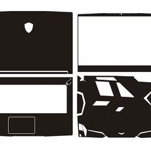 KH ноутбук протектор из углеродного волокна крокодиловая Змеиная Кожа Наклейка кожаный чехол для MSI GF63 15,6 дюйма
