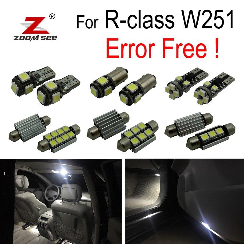 24 pcs LED plaque D'immatriculation lampe + LED intérieur dôme lumières ampoule Kit Pour Mercedes Benz R classe W251 R320 r350 R500 (2006-2014)