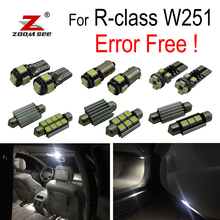 24 шт. светодио дный лампы номерных знаков + светодио дный купола лампочка комплект для Mercedes Benz R class W251 R320 r350 R500 (2006-2014)
