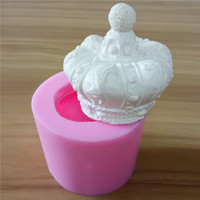 Free Shipping 3D Crown Handmade Silicone Candle Mould Handcrafted 3D Decorative Candle Molds