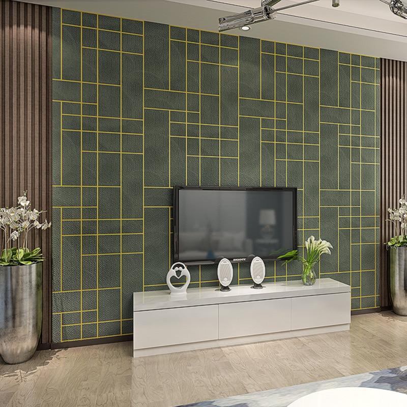 3D luxury modern geometric background wallpaper 3D minimalist living room TV sofa wallpaper Dark green Gray 100% cotton dark blue gray orange green bed sofa plane travel home blanket