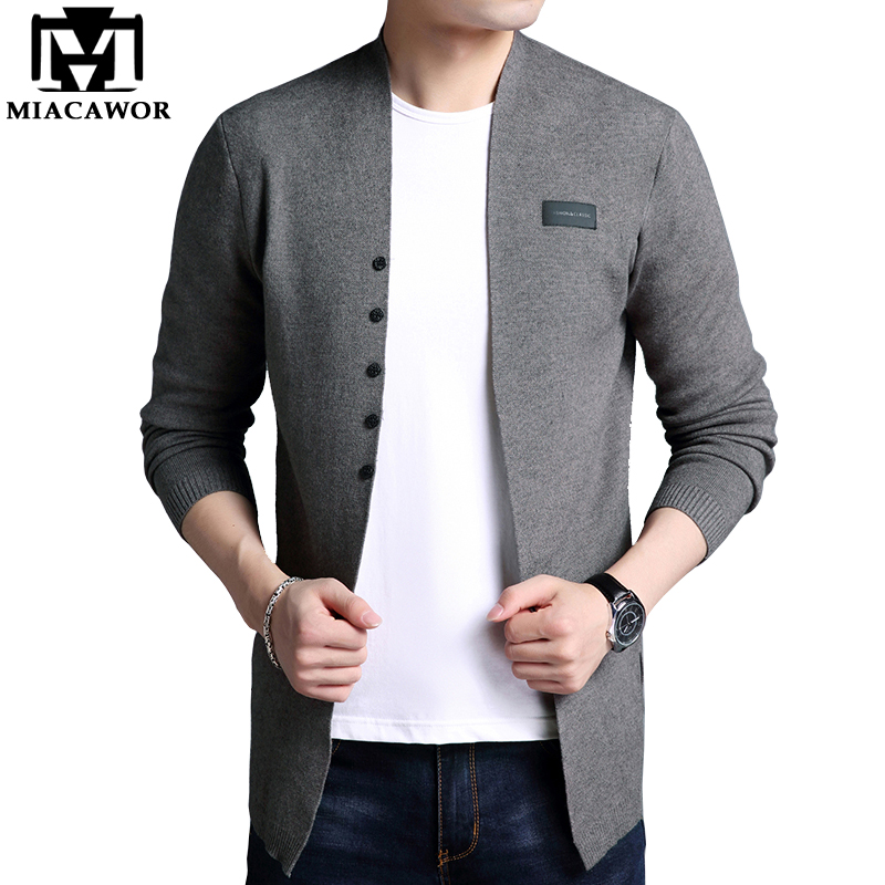 MIACAWOR New Sweater Men Autumn Casual Men Cardigan Classic Knitwear Sweater High Quality Pull Homme Men Clothes Y060