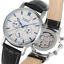 Classique automatique-montres mécaniques à remontage automatique Transparent hommes montre en acier inoxydable squelette Style d'affaires mâle horloge reloj