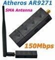 Atheros AR9271 150 Mbps USB WiFi Adapter com Antena Externa 5DBi Adaptador Ethernet Para Beini/ROS/Windows 7/8/10 Linux/Soft AP