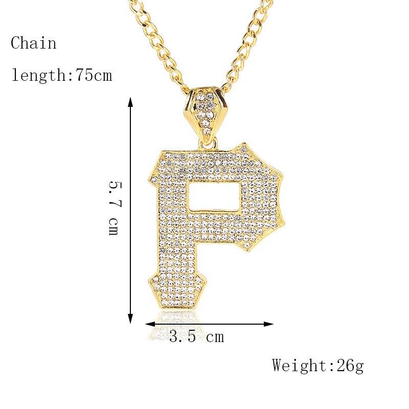 Хип-хоп ювелирные изделия Модные золотые длинные цепочки ожерелья для женщин и мужчин персонализированные буквы Орел молитвенный знак карта кулон ожерелье - Окраска металла: N115