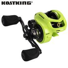 KastKing Bassinator Elite carrete de pesca Baitcasting, 8kg/17,65 lb, arrastre 10 + 1 rodamientos de bolas 6,6: 1/8, 1:1, Ratito de engranaje, bobina de pesca