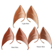 1 Pair Of Latex Fairy Elf Ears Party Masks Halloween Cosplay Accessories Vampire Ghost Zombie Ears