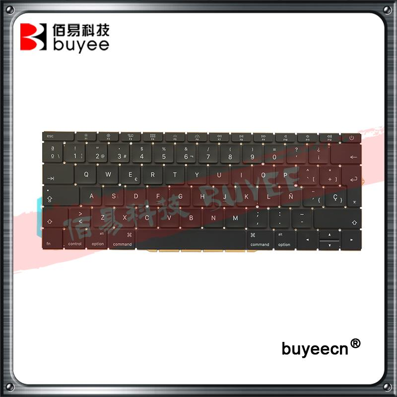 New Genuine A1708 Spain SP Layout Keyboards 2016 Year For Macbook Retina Pro 13 Inch A1708 Spanish Keyboard Replacement new original laptop a1706 us keyboards for macbook pro retina 13 inch a1706 keyboard 2016 year replacement