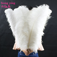 Big pole ostrich feather snowy white feathers 5pcs 65 70 cm/26 28 inches plume wedding decoration Holiday decorations