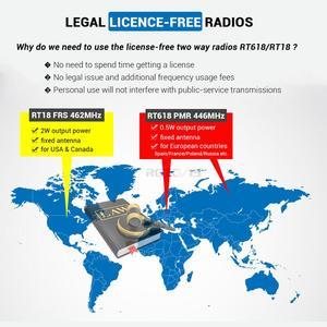 Image 3 - Mini telsiz 2 adet Retevis RT618/RT18 radyo istasyonu Ultra ince çift PTT İki yönlü radyo taşınabilir FRS PMR446 frekans atlamalı