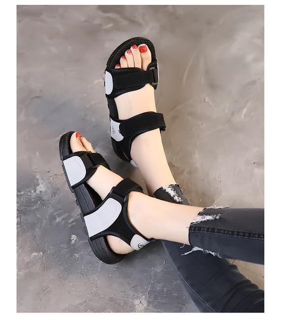 Купить сандалии женские однотонные на нескользящей подошве спортивная картинки