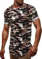 Männlichen 2018 Marke Kurzarm Fashion Camouflage Casual T-shirt Oansatz dünnen Männer T-Shirt Tops Mode Herren T-shirt T Shirts XXXL