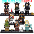 8PCS KSZ518 Pirates of the Caribbean Super Heroes Figures Building Blocks Children Gift Kids Gift Baby Toys Compatible Lepin