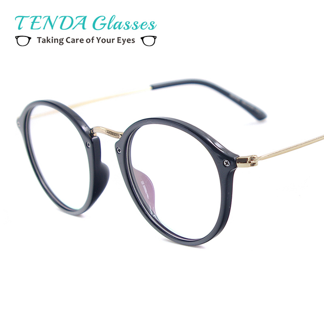60a3a65a5f Woman Lightweight TR90 Small Eyeglasses Frame Round Full Rim Vintage Glasses  For Myopia Prescription Lenses