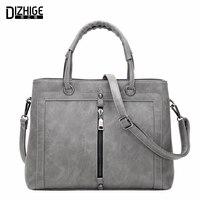 Middle Zipper Fashion Tote Bags Handbags Women Famous Brands Designer Handbags High Quality PU Leather Ladies