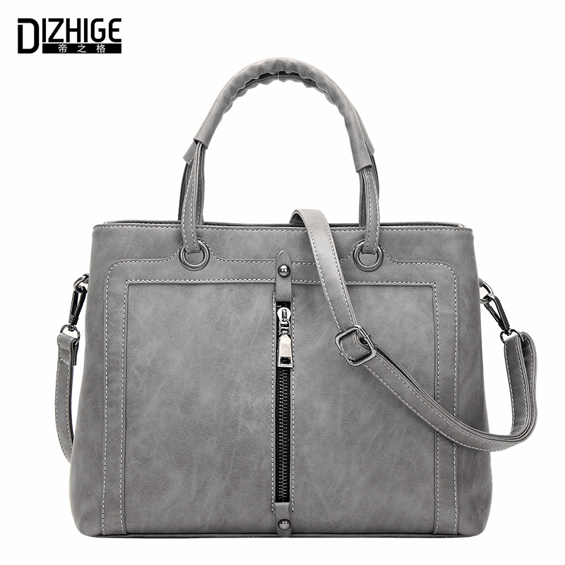 Middle Zipper Fashion Tote Bags Handbags Women Famous Brands Designer Handbags High Quality PU Leather Ladies Hand Bags Shoulder  nnew fashion women shoulder bags casual tote messenger bags famous designer pu leather high quality ladies handbags tfd171