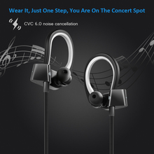 Siroflo Wireless Earphones Bluetooth Wireless Neckband Headphones, Noise Cancelling Headset for Running, 10H Work Time dacom l02 dual drivers neckband running bluetooth headphone 4 1 ipx5 waterproof stereo cvc noise cancelling wireless earphones