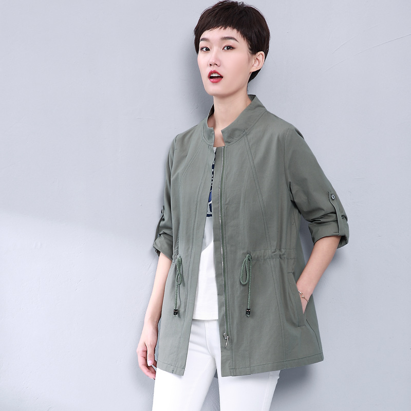 Soprabito Casuale Il Femminile Trench Donne Giacca Solido Green 2017 Più Delle Vento Di Cappotto collo Moda Yagenz O orange gray Colore Vestiti Primavera Blue Formato A khaki Gray Autunno x1Ew6vqIP