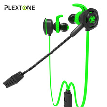 Plextone G30 PC Gaming Headset With Microphone In Ear Bass Noise Cancelling Earphone With Mic For Phone Computer Gamer PS4 free shipping game gaming earphone new for pc mobile phone ps4 mic audio bass noise cancelling
