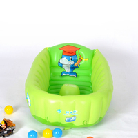 Home Use Baby's PVC Inflatable Square Bathing Tubs Newborn Baby's Lovely Tubs Anti slip Baby Bathing Pool