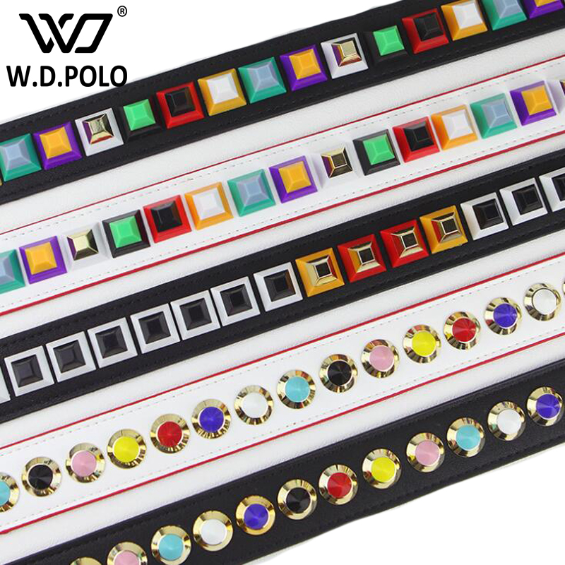 WDPOLO STRAP YOU hot rivet design women handbag strap chic lady shoulder bag stripe gold clasp girl bag belt bags parts AA144