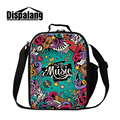 Dispalang 3D musical note printed thermo lunch bags for girls insulated adults lunch bag lifelike music custom design cooler bag