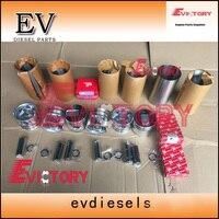 미쓰비시 S6S 엔진 리빌드 키트 S6S 피스톤 + 피스톤 링 + 실린더 라이너 + 가스켓 키트 + 베어링 콘로드 오일 펌프