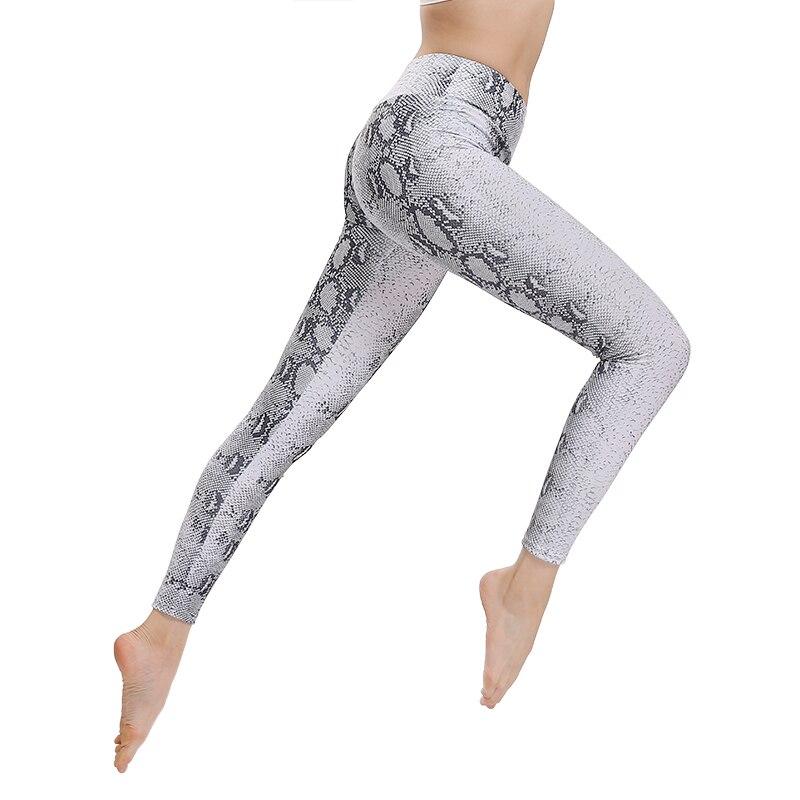 CHRLEISURE Snake Skin Printing   Leggings   Fitness High Waist Workout Pants 2018 Fashion Sexy Loose Slim And Sweaty   Legging   Women