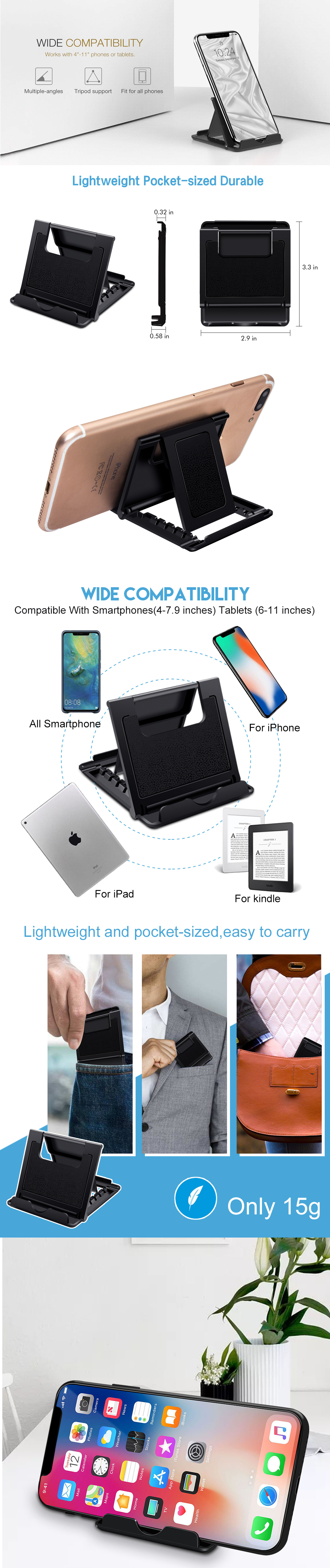 Ascromy-Universal-Cell-Phone-Stand-Holder-For-iPhone-XS-Max-8-Samsung-S8-Xiaomi-iPad-Tablet-Mount-Cradle-telefon-tutucu-soporte (3)