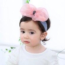 0-12 months Korean version baby hair band summer baby headdress girl big bow headdress princess photo hair band cohiba big band