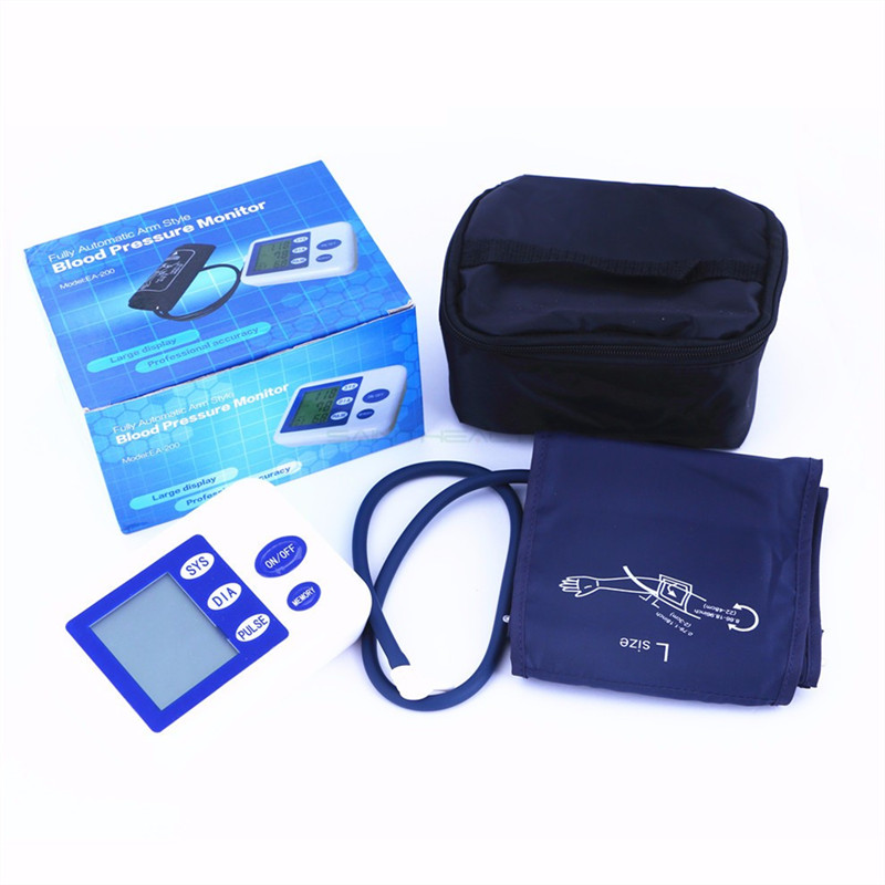 Portable Blood Pressure Monitor Health Care Pulse Meter Automatic Digital Sphygmomanometer Household Tonometer Medical Shipping 8