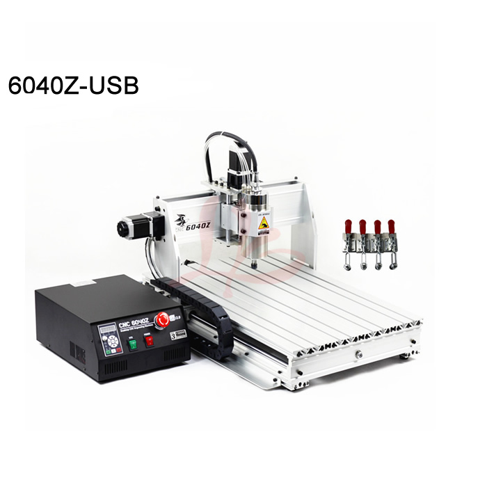 High power 1500W CNC 6040 engraving machine 3axis cnc milling router USB port mach3 control working area 375*575*68mm 3040zq usb 3axis cnc router machine with mach3 remote control engraving drilling and milling machine free tax to russia