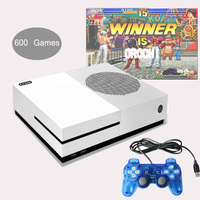 4GB Video Game Console 32 Bit Retro Family TV Gaming Player Built-in 600 Childhood Games for GBA/NEOGEO/NES/SNES with 2 Gamepads