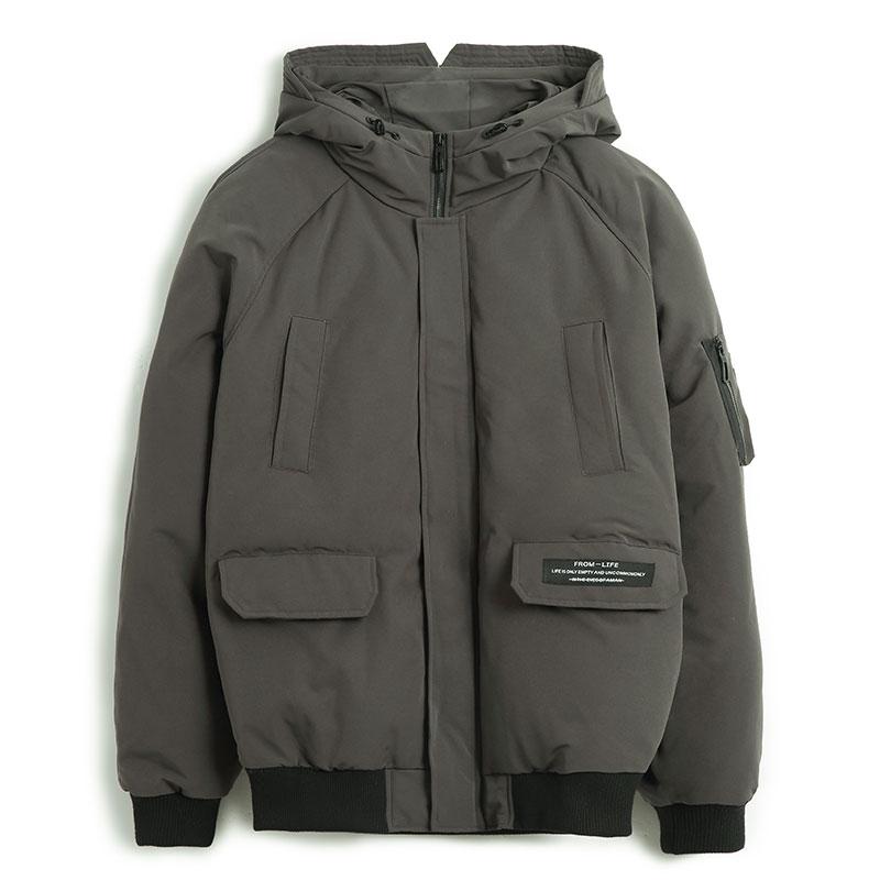 Пионерский лагерь Новая мужская зимняя куртка брендовая одежда Мода Толстые теплая куртка мужской наивысшего качества парка черный цвет, д...