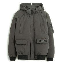 Pioneer Camp ชายฤดูหนาวแจ็คเก็ตแบรนด์เสื้อผ้าแฟชั่นหนา WARM Coat ชายคุณภาพสูง Parka Men สีดำสีเขียว AMF801453